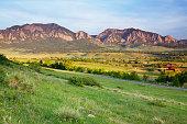 Boulder Colorado Flatirons and Ranchland