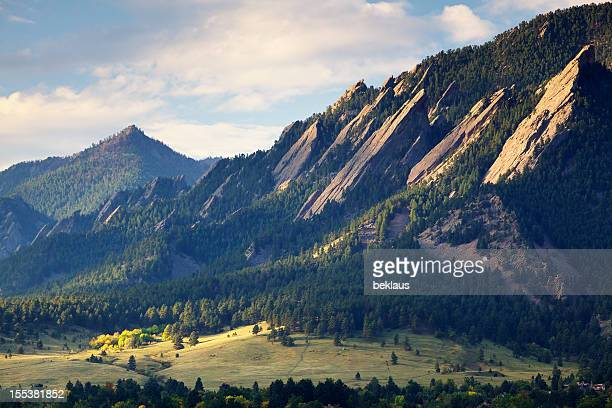 Boulder Colorado Flatirons in Fall