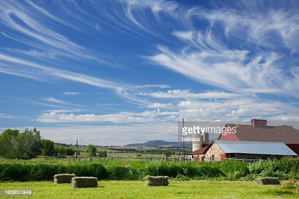 Boulder Colorado Red Barn and Cloudscape