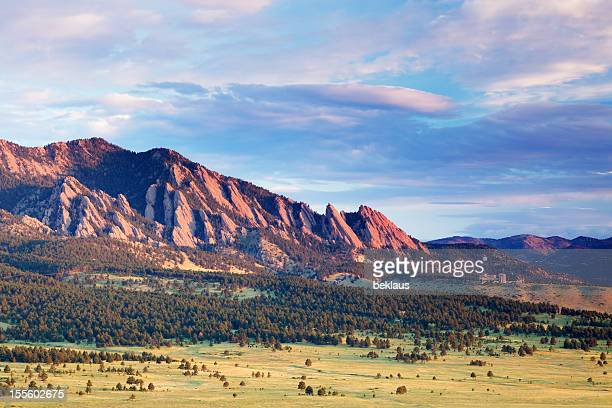 Boulder Flatirons at Sunrise