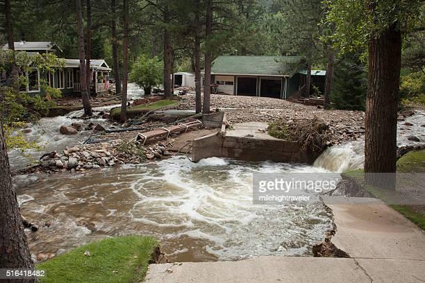 Fluss Boulder Hause durch Vernichtung Links Hand Canyon, Colorado