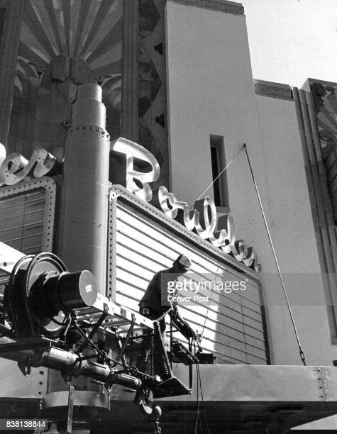 Boulder Theater Renovation An electrician works on the marquee lighting A request from the city of Boulder to install flashing lights is up for...