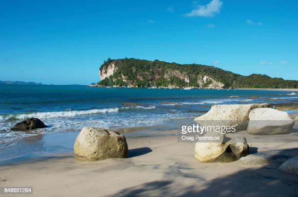 Boulders on Cooks Beach, Mercury Bay.