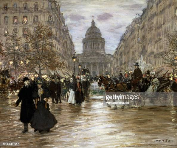 'Boulevard SaintMichel' late 19th or early 20th century Found in the collection of the State A Pushkin Museum of Fine Arts Moscow