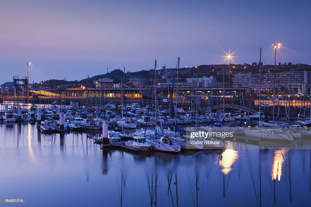 boulogne sur mer france harbor view stock photo getty images. Black Bedroom Furniture Sets. Home Design Ideas