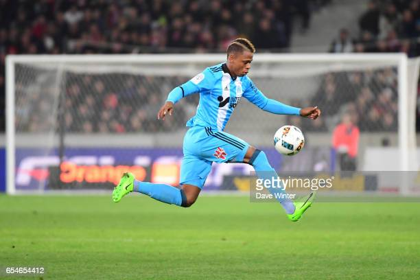 Bouna Sarr of Marseille during the Ligue 1 match between Lille OSC and Olympique de Marseille at Stade Pierre Mauroy on March 17 2017 in Lille France