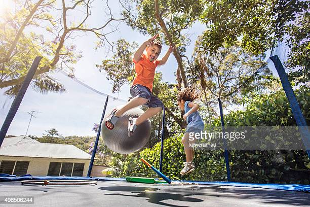 Bouncing on the trampoline