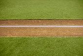 Boundary marking on baseball field