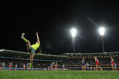 A boundary umpire throws the ball in during the round 10 AFL match between the Sydney Swans and the North Melbourne Kangaroos at Sydney Cricket...