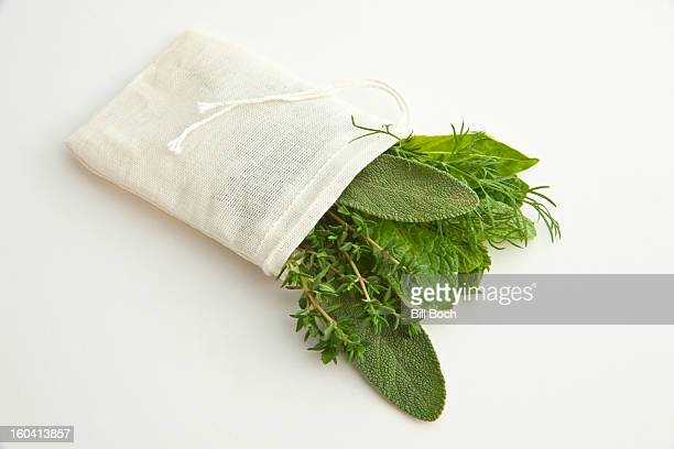 Bouquet Garnis cloth bag filled with herbs