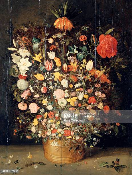 'Bouquet of Flowers in a Wooden Vase' 1603