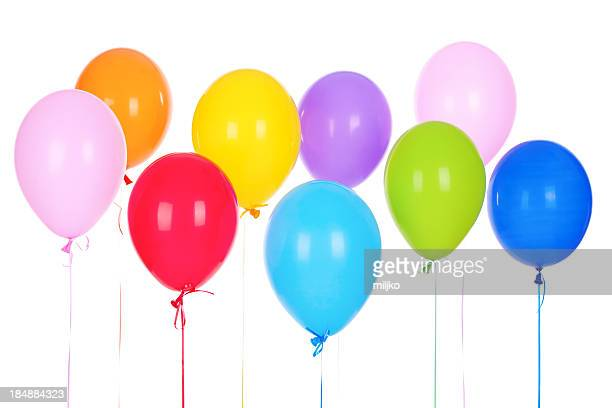 Bouquet de multicolored baloons