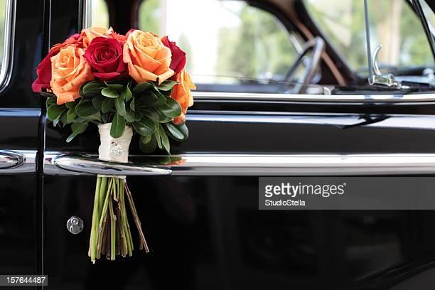 Bouquet on Vintage Car Door