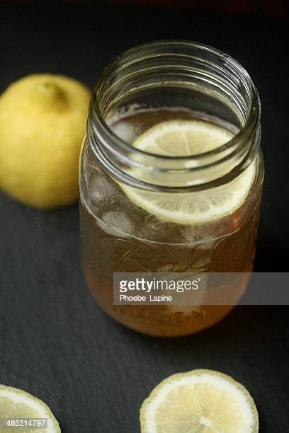 Bourbon, lemon and tonic water  Cocktail