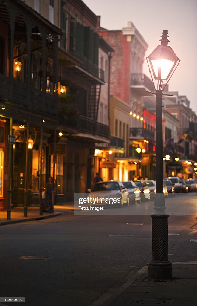 Bourbon Street New Orleans at night
