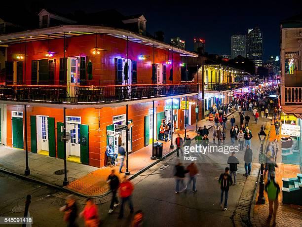 La rue Bourbon, à la Nouvelle-Orléans