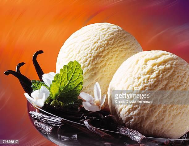 Bourbon vanilla ice cream, close-up
