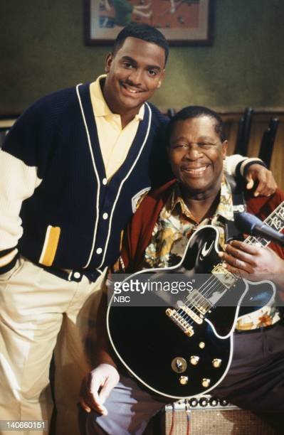AIR 'Bourgie Sings the Blues' Episode 4 Pictured Alfonso Ribeiro as Carlton Banks BB King as Pappy Photo by Kassa Zakadi/NBCU Photo Bank