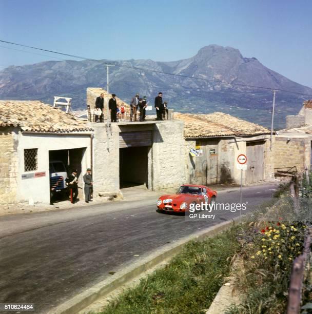 Bourillot de Bourbon Palme driving a Ferrari 250GTO at Targa Florio 10th