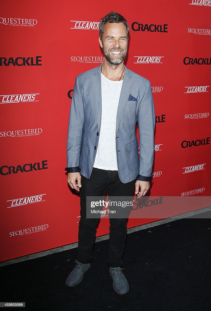 JR Bourne arrives at the Crackle Original Series' 'Cleaners' and 'Sequestered' Summer premiere celebration held at 1 OAK on August 14, 2014 in West Hollywood, California.