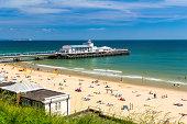 Overlooking Bournemouth Beach and Pier Dorset England UK Europe