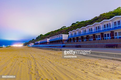 Bournemouth beach huts : Stock Photo