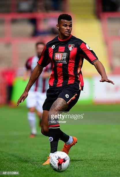 Bournemouth defender Tyrone Mings in action during the Pre season friendly match between Exeter City and AFC Bournemouth at St James Park on July 18...