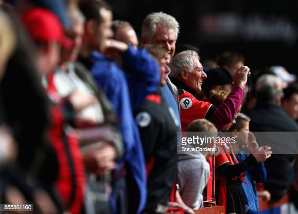 Bournemouth fan takes a photo prior to the Premier League match between AFC Bournemouth and Leicester City at Vitality Stadium on September 30 2017...