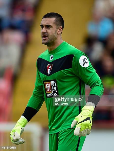 Bournemouth goalkeeper Adam Federici looks on during the Pre season friendly match between Exeter City and AFC Bournemouth at St James Park on July...