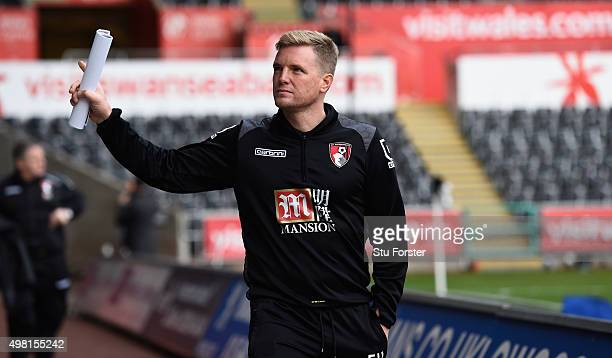 Bournemouth manager Eddie Howe arrives at the ground before the Barclays Premier League match between Swansea City and AFC Bournemouth at Liberty...