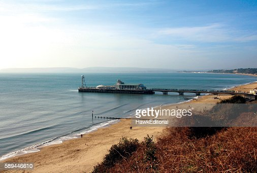 Bournemouth Pier and Beach : Stock Photo