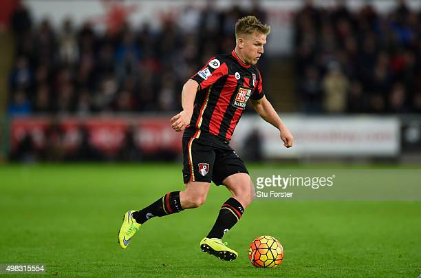 Bournemouth player Matt Ritchie in action during the Barclays Premier League match between Swansea City and AFC Bournemouth at Liberty Stadium on...