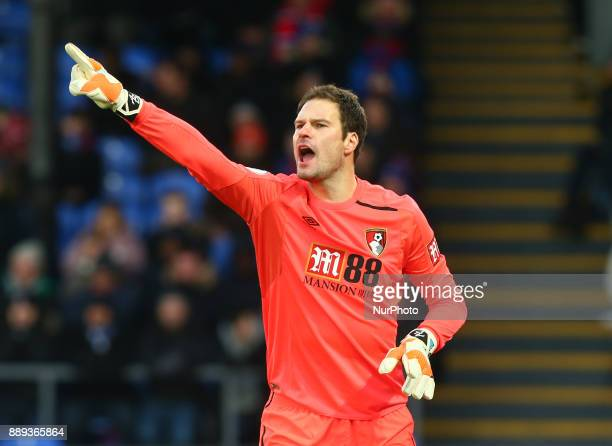 Bournemouth's Asmir Begovic during Premier League match between Crystal Palace and AFC Bournemouth at Selhurst Park Stadium London England 09 Dec 2017