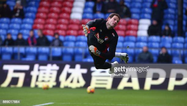 Bournemouth's Asmir Begovic during the prematch warmup during Premier League match between Crystal Palace and AFC Bournemouth at Selhurst Park...