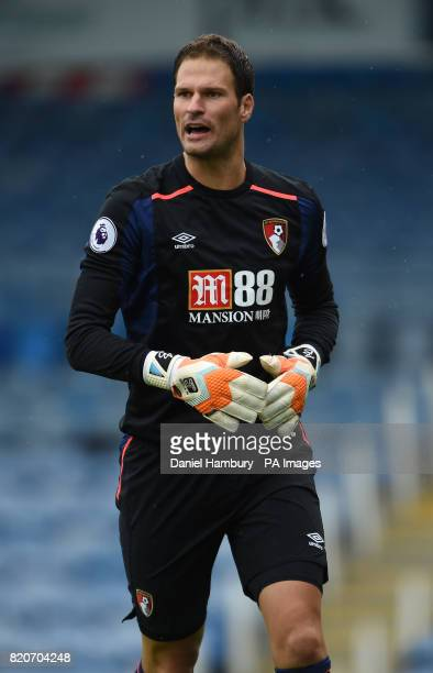 AFC Bournemouth's Asmir Begovic during the preseason friendly match at Fratton Park Portsmouth