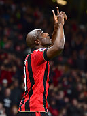 bournemouth england bournemouths benik afobe celebrates