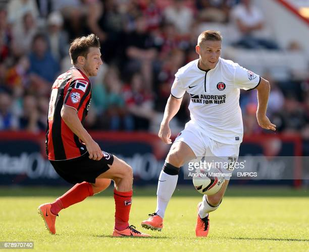 Bournemouth's Harry After and Charlton Athletic's Mark Gower in action