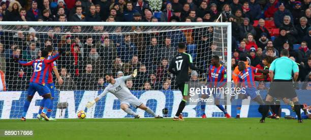 Bournemouth's Jermain Defoe scores his sides first goal during Premier League match between Crystal Palace and AFC Bournemouth at Selhurst Park...
