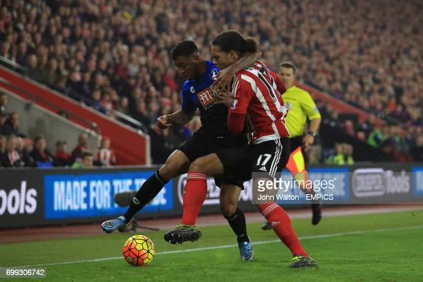 AFC Bournemouth's Joshua King and Southampton's Virgil van Dijk battle for the ball