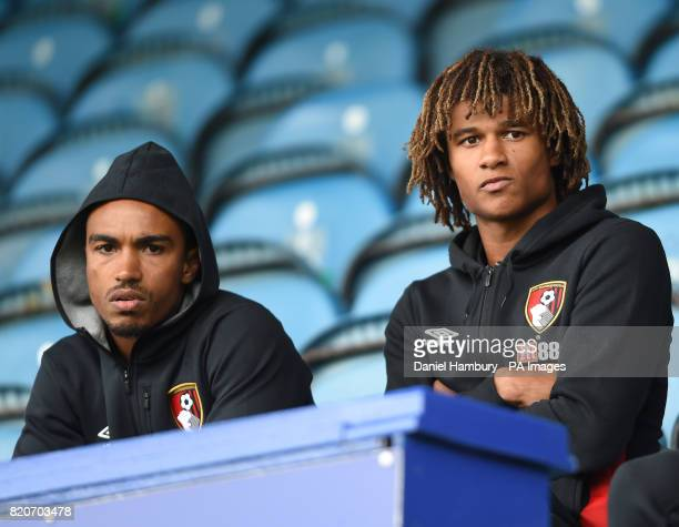 AFC Bournemouth's Junior Stanislas and Nathan Ake during the preseason friendly match at Fratton Park Portsmouth