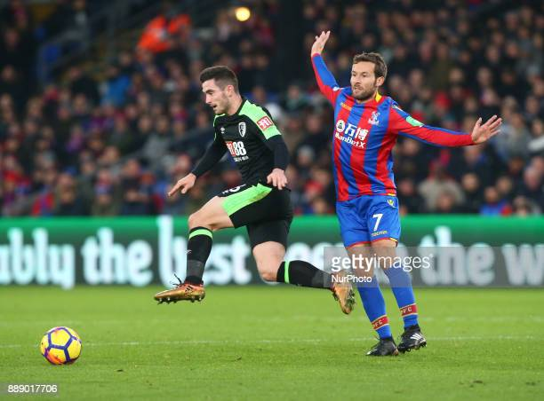 LR Bournemouth's Lewis Cook and Crystal Palace's Yohan Cabaye during Premier League match between Crystal Palace and AFC Bournemouth at Selhurst Park...