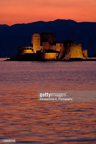 Bourtzi castle in Nafplio Greece