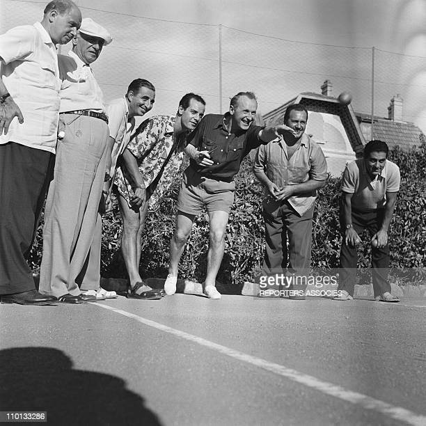 Bourvil and Georges Guetary playing Petanque in the 1950s