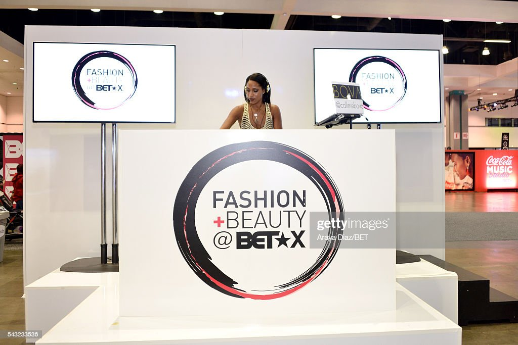DJ Bova attends Fashion And Beauty @BETX presented by Progressive, Covergirl, Strength of Nature, Korbel and Macy's during the 2016 BET Experience on June 26, 2016 in Los Angeles, California.