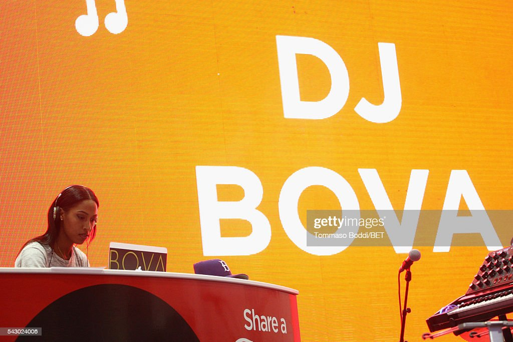 DJ Bova attends the Coke music studio during the 2016 BET Experience on June 25, 2016 in Los Angeles, California.
