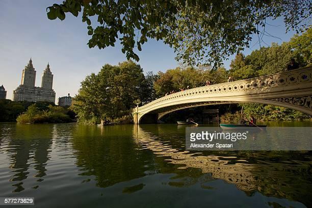 Bow Bridge in Central Park, New York, USA