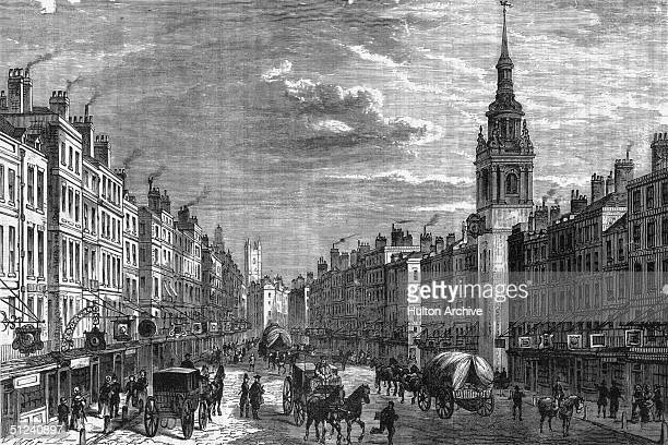1750 Bow Church and Cheapside in London