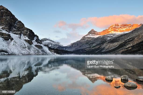 Bow Lake sunrise, Banff National Park in Alberta