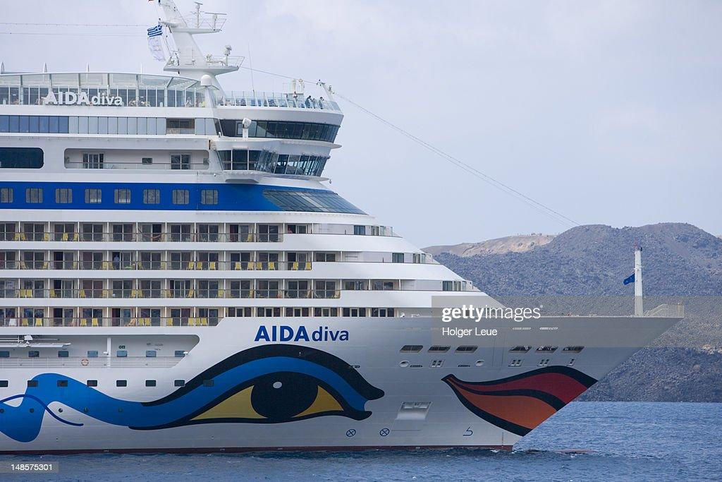 Bow of cruiseship AIDAdiva. : Stock Photo
