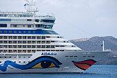 Bow of cruiseship AIDAdiva.